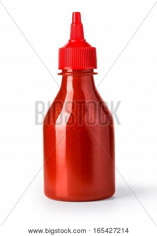 Ketchup Bottle Isolated