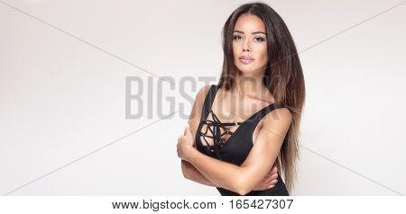 Sexy Girl In Lingerie Posing.