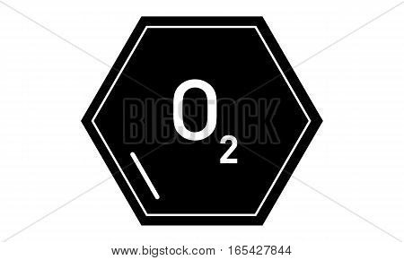 Vector - Oxygen - O2 - Vektor -O2 - Icon, Symbol, pictogram