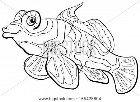 Mandarin Fish Coloring Page