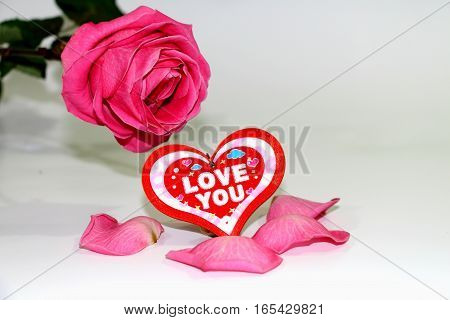 Heart and rose. Great feeling - love. Every loving person strives to give the best of everything: love heart and roses.