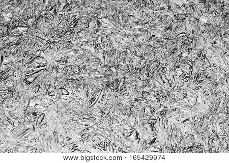 Macro photo about natural ice surface as texture background.