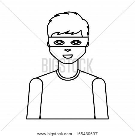 hacker avatar character isolated icon vector illustration design