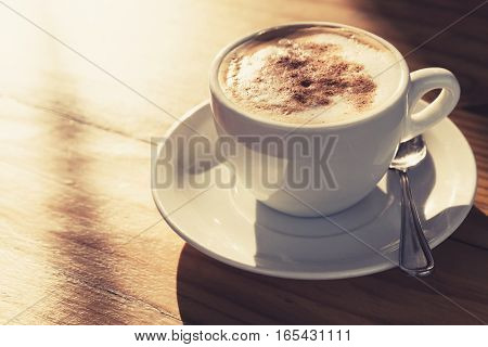 Cappuccino. Coffee With Milk Foam, Toned