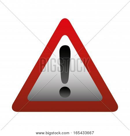 alert sign isolated icon vector illustration design