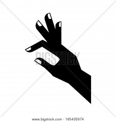 Hand touching something icon vector illustration design