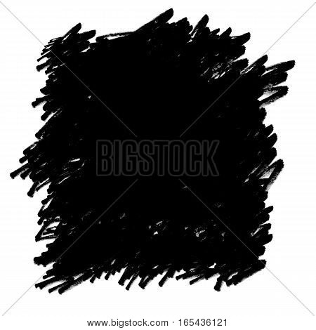Hand-drawn black permanent marker abstract background on white. Perfect for use as a mask / matte or as a graphic element.