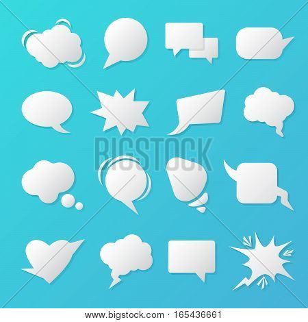 Comic Speech Bubbles. Blank Templates for Chat. Vector illustration