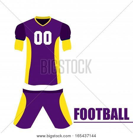 Isolated football uniform on a white background, Vector illustration