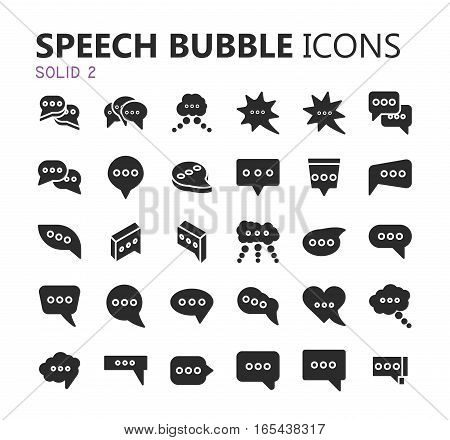 Simple modern set of speech bubbles icons. Premium symbol collection. Vector illustration. Simple pictogram pack.