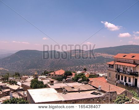 The view of Old City Safed Israel June 29 2008
