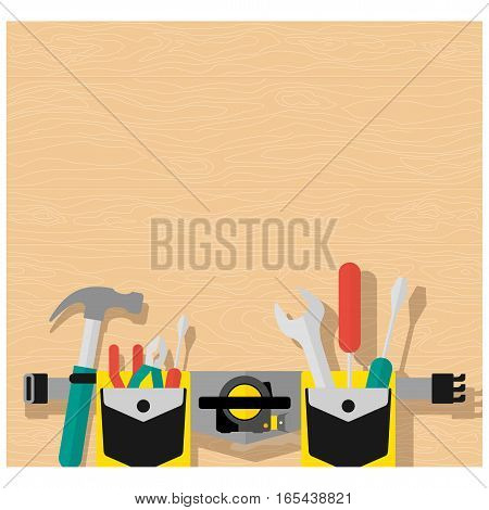 Poster Belt Of Tools Brown