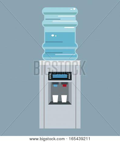 water cooler bottle office equipment vector illustration eps 10