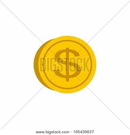 Dollar coin vector design isolated on white background.