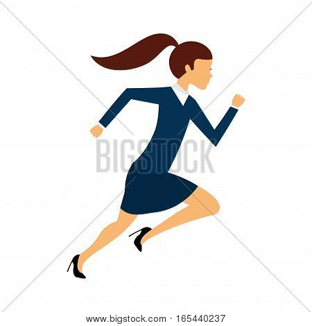 businessperson running avatar icon vector illustration design
