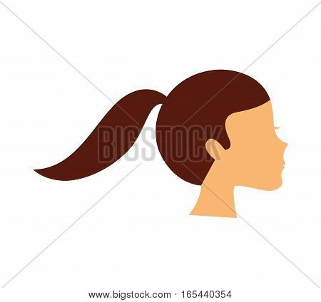 young woman avatar character vector illustration design