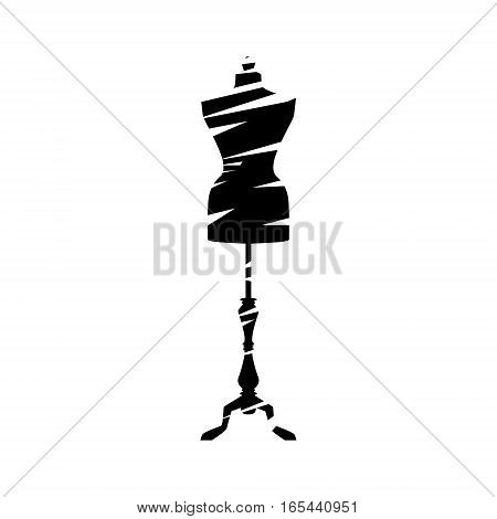 isolated manequin body icon vector illustration graphic design