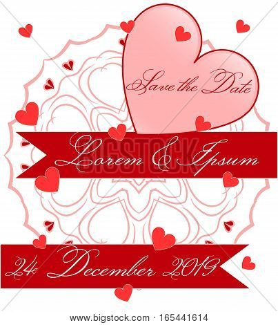 Save the Date, Ornament, Heart, Wedding Celebration, Getting Married, Invitation, Poster, Cover, Greeting, EPS10