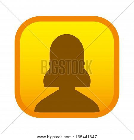silhouette user avatar square button vector illustration design