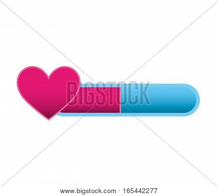 game heart isolated icon vector illustration design
