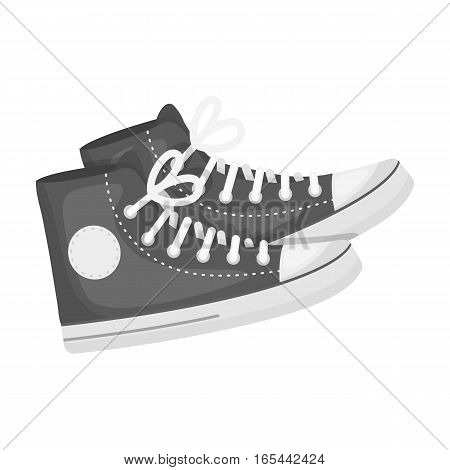 icon in monochrome design isolated on white background. Hipster style symbol stock vector illustration.