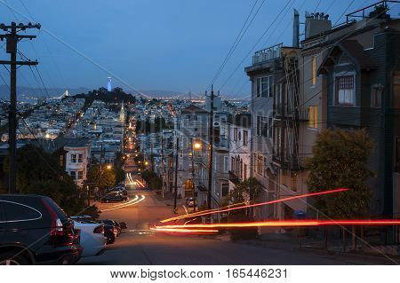 San Francisco Streets At Night