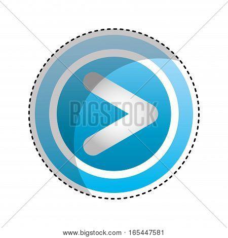 play button interface icon vector illustration design