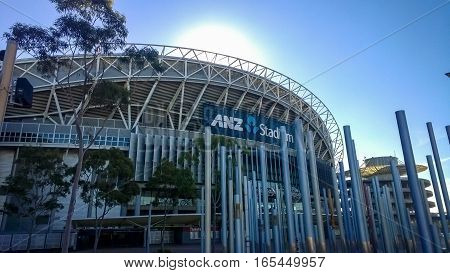 SYDNEY - MAY 5:  The ANZ Stadium view on May 5th 2014. in Sydney, Australia.