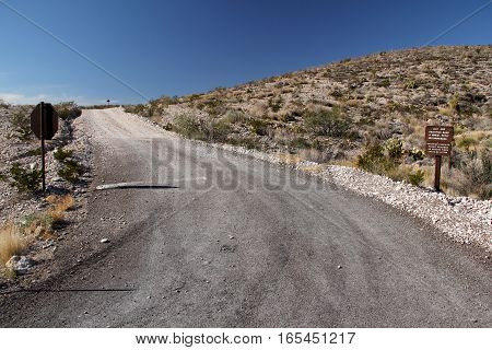 Backcountry Road in Big Bend National Park, Texas