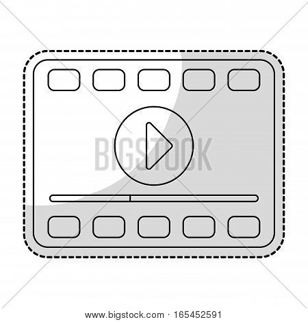 filmstrip movie or video related icon image sticker vector illustration design