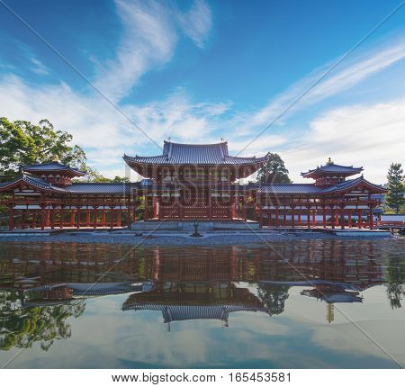 Byodo-in (phoenix Hall) Is A Buddhist Temple In The City Of Uji In Kyoto Prefecture, Japan.