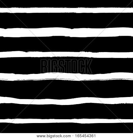 Decorative seamless pattern with handdrawn shapes. Hand painted grungy ink doodles in black and white colors. Trendy endless texture for digital paper, fabric, backdrops, wrapping