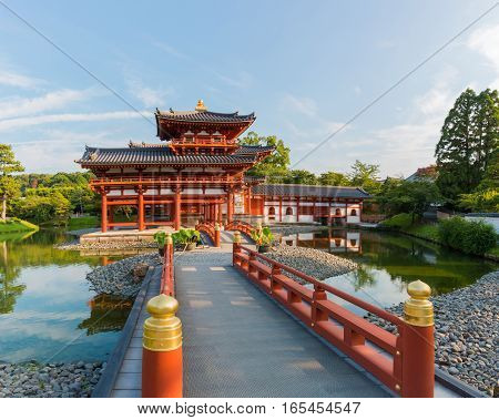 Byodo-in (Phoenix Hall) is a Buddhist temple in the city of Uji in Kyoto Prefecture Japan built in late Heian period. It is jointly a temple of the Jodo-shu and Tendai-shu sects.