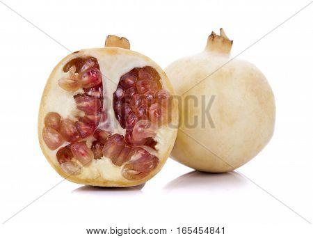 pomegranates isolated on a white background .