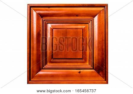 a solid red maple wood kitchen cabinet door. doors, wooden, cabinets. isolated, on white background