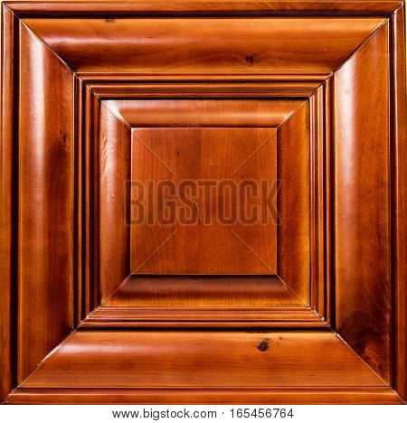 a solid red cherry wood kitchen cabinet door. doors, wooden, isolated, cabinets