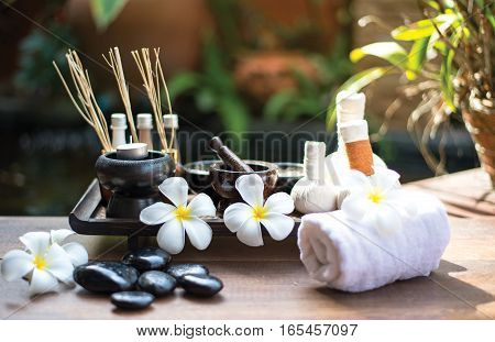 Spa scrub treatment and massage Thailand soft and select focus