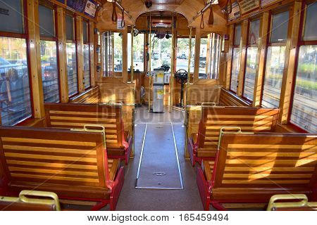 Tampa, Florida - Usa - January 07, 2016 :  Teco Line Streetcar System