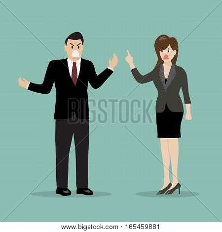 Business people having a quarrel. vector illustration