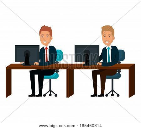 bussiness people working icon vector illustration design