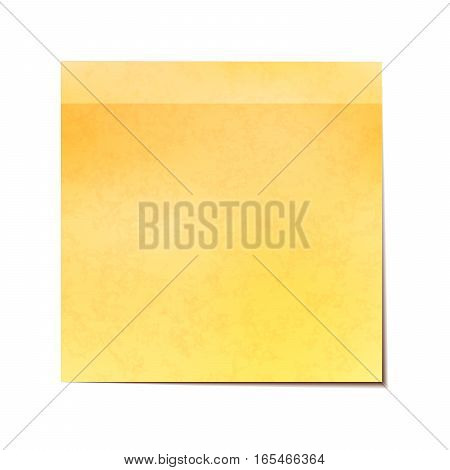 Yellow sticky note isolated on white background