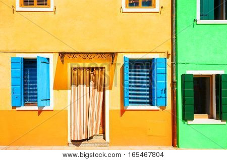 Yellow And Green Houses.