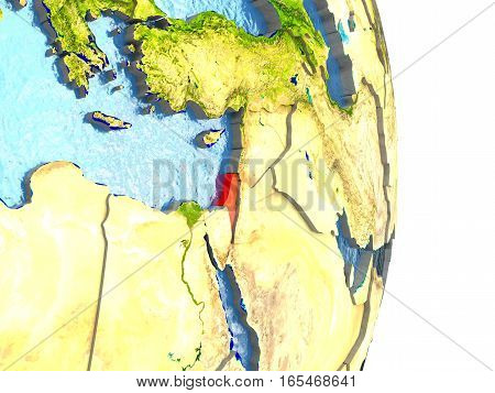 Israel In Red On Earth