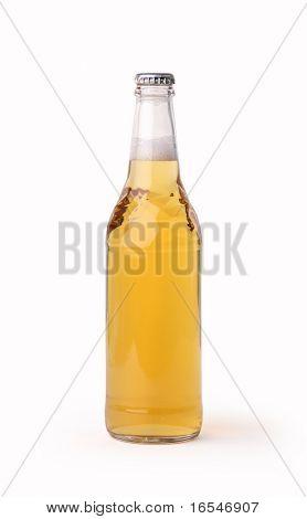 Beer bottle with liquid