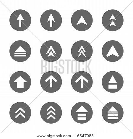 arrow design sign icons setvector Illustration EPS10