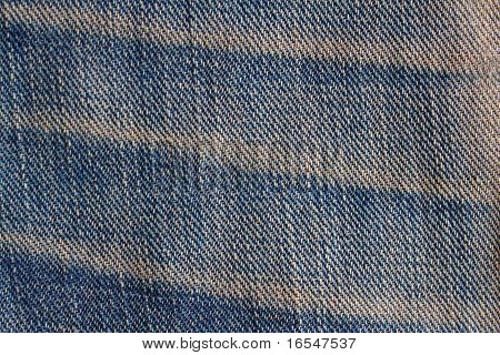 Striped Textured Of The Blue Jeans Denim Fabric