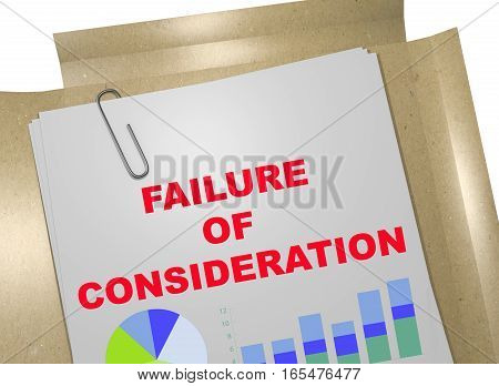 Failure Of Consideration - Business Concept