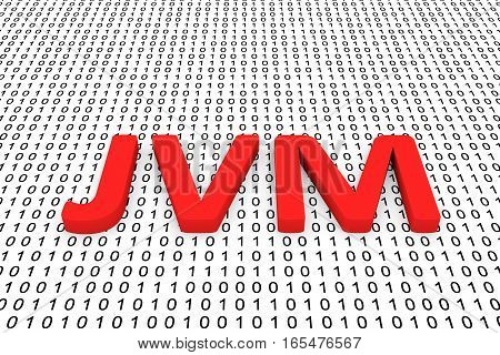 jvm in the form of binary code, 3D illustration