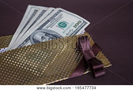 money: a few dollars on the table