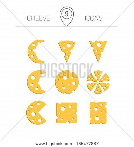Vector Illustration Of Cheese.